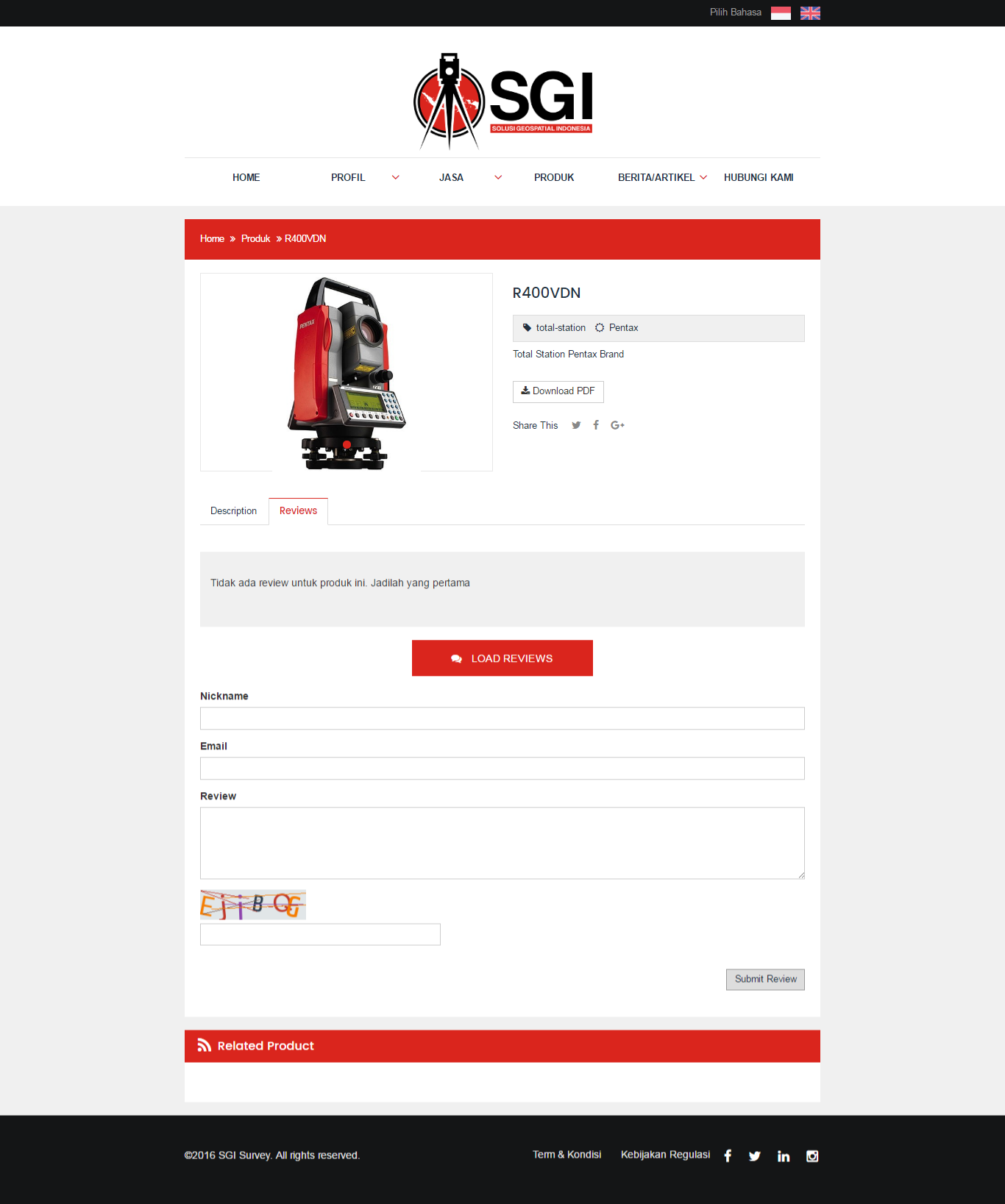 SGI Survey - Front End