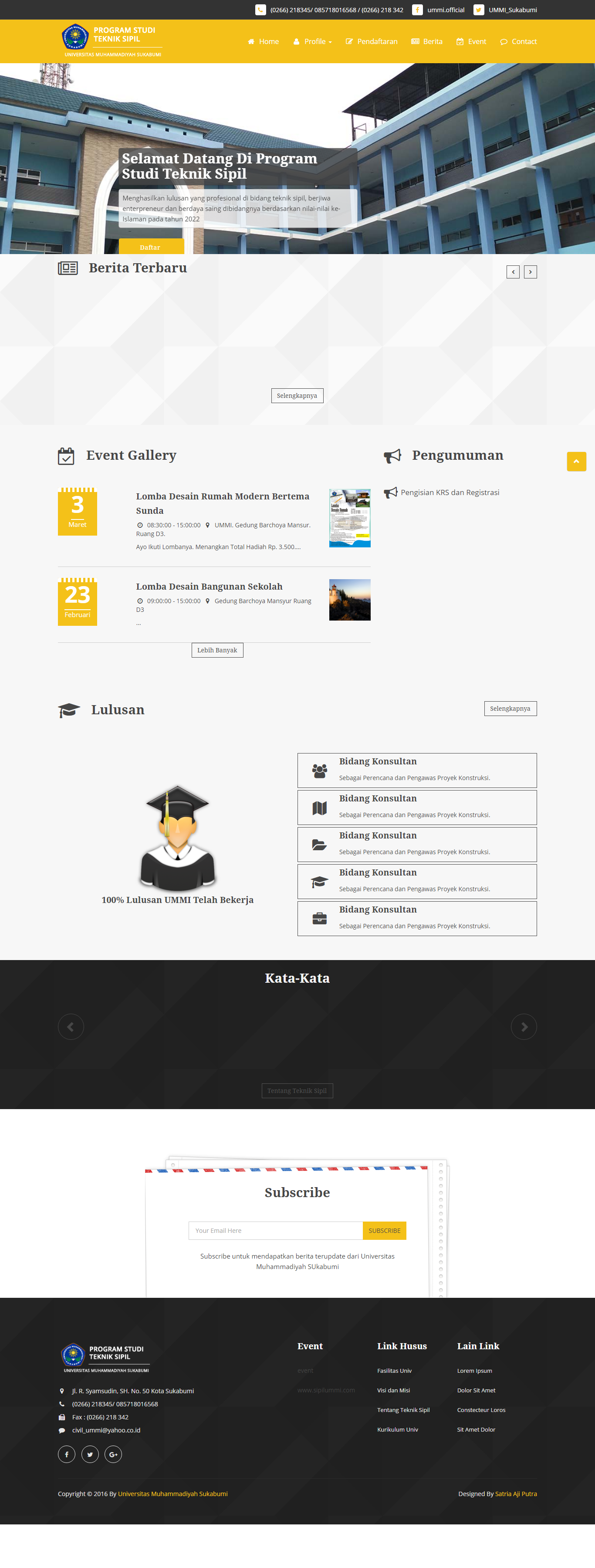 SipilUMMI Website