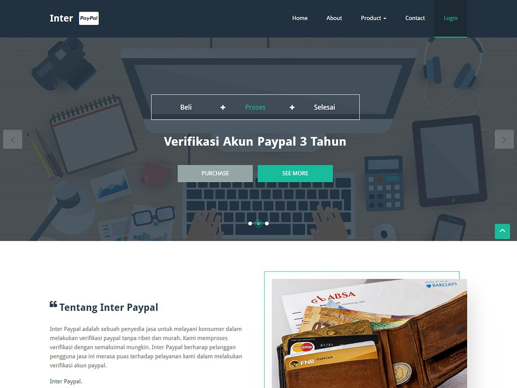 Inter Paypal - Verify Paypal Account Service