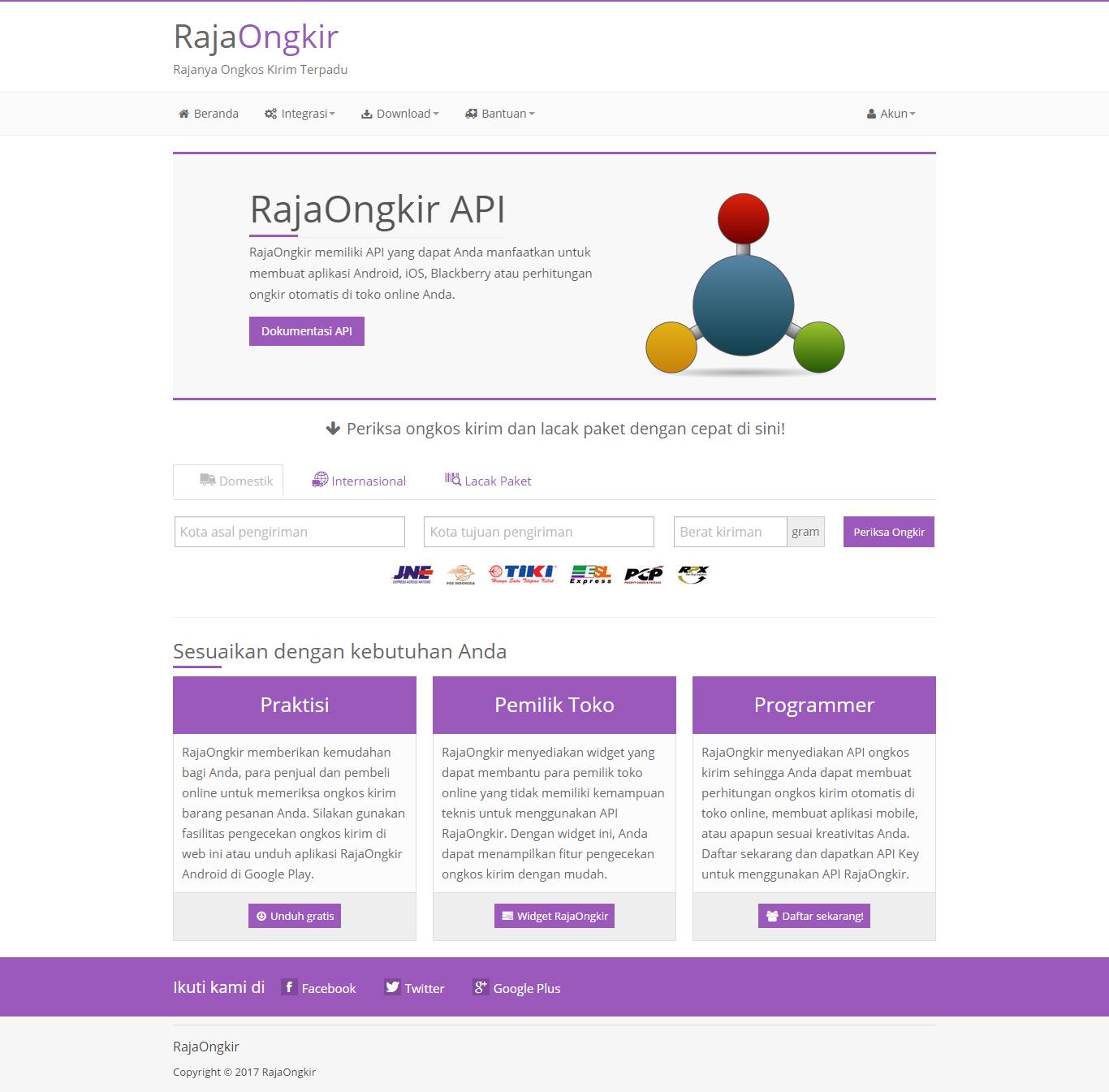 RajaOngkir API - Starter