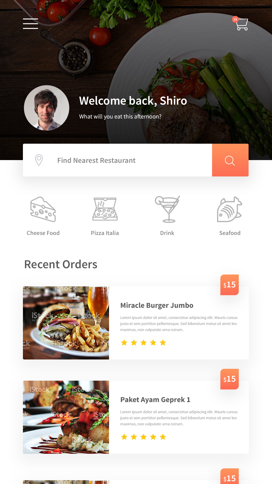 GETResto - Restaurant App and Web Design