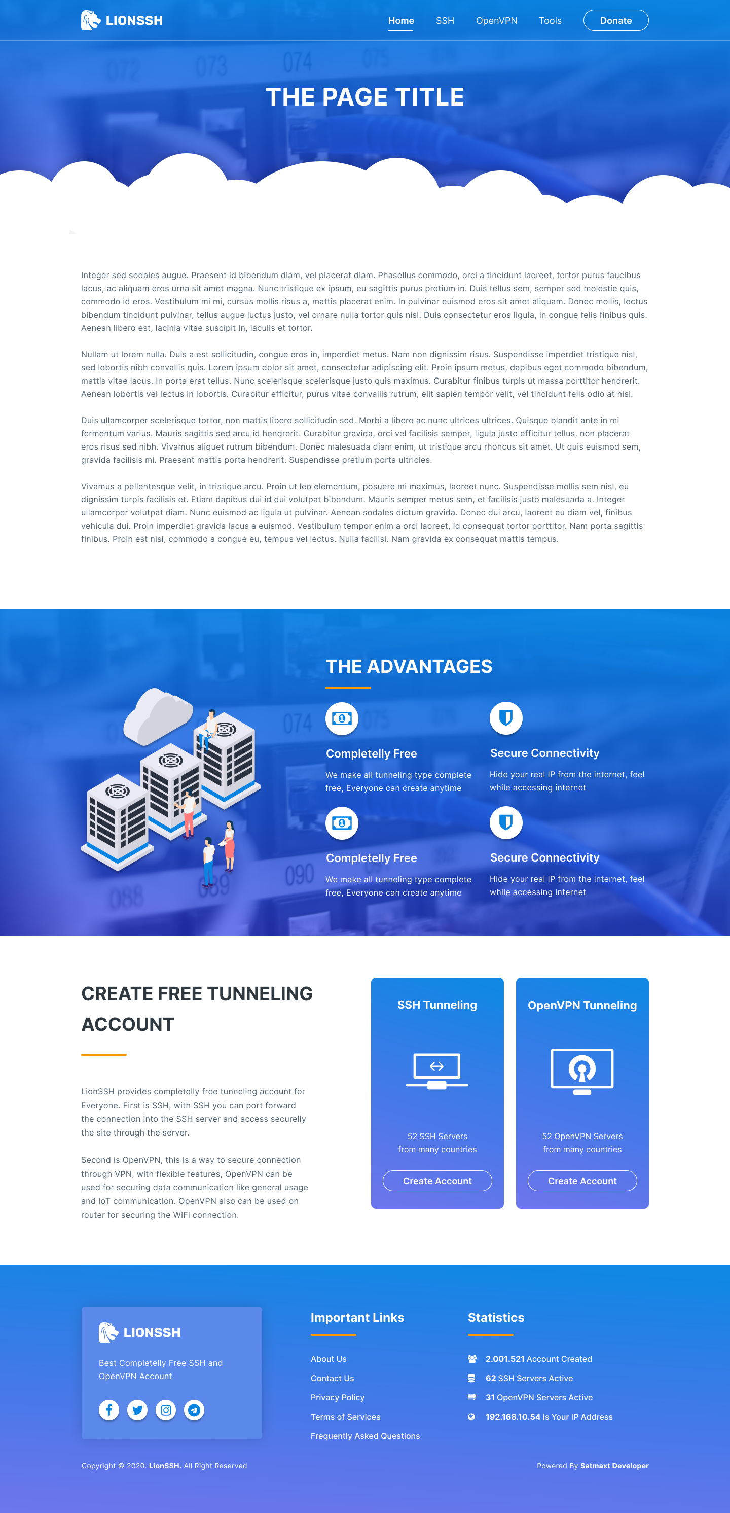 LionSSH - FREE SSH & OPENVPN